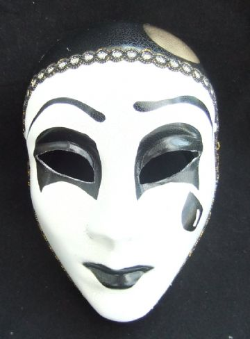 Mime full face mask (headband or ribbons)